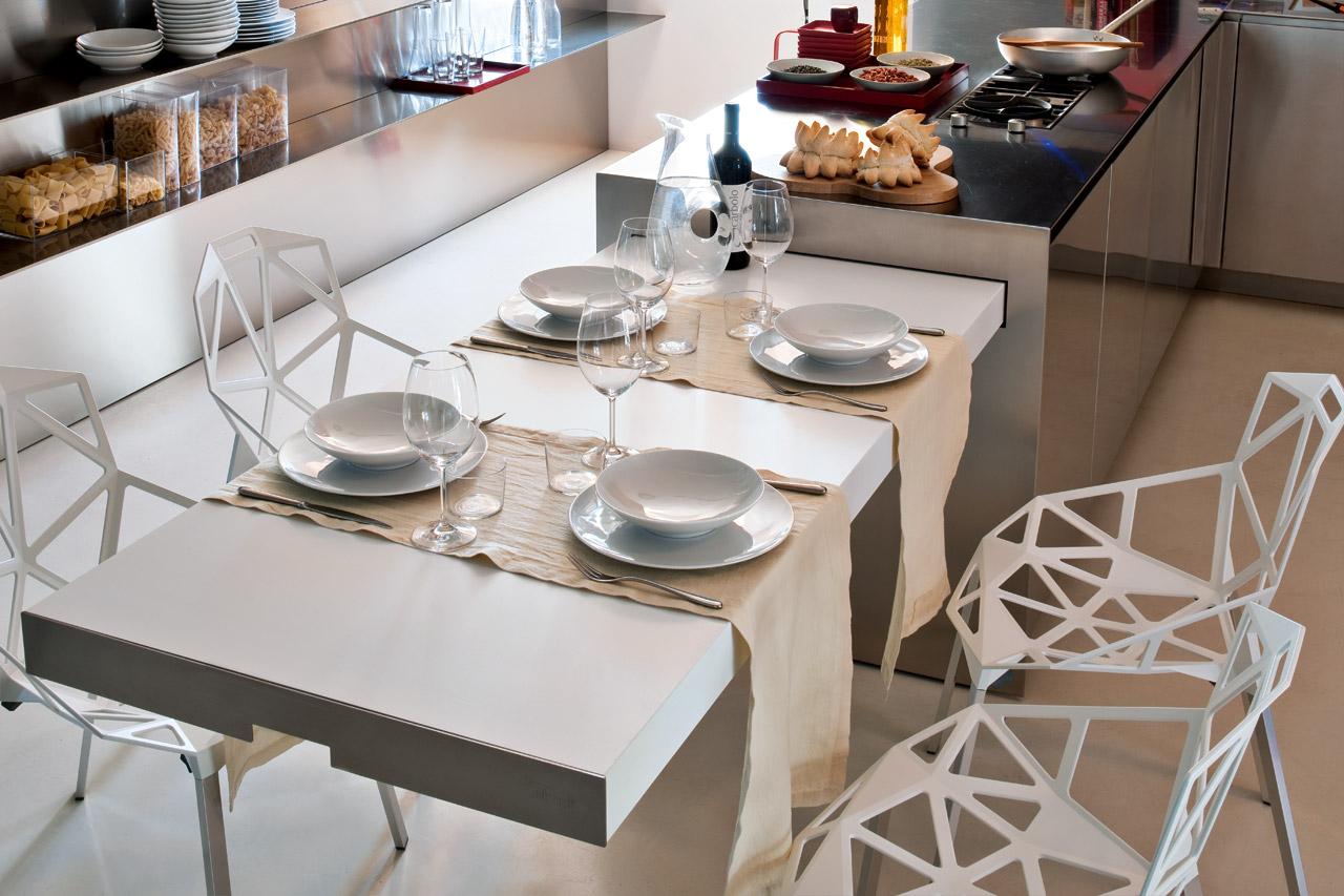 Mesas escamoteables para cocinas cocinas con estilo for Cucina con tavolo estraibile