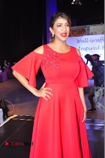 Manchu Lakshmi Pictures in Red Long Dress at Food for Change � A Black Tie Charity Event