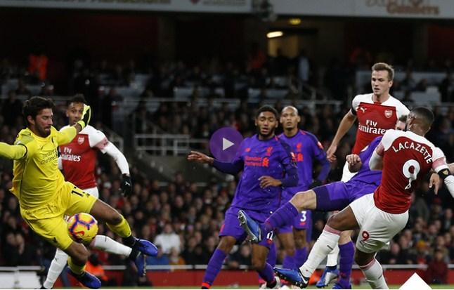 فيديو : أرسنال يتعادل مع ليفربول فى الدورى الانجليزى