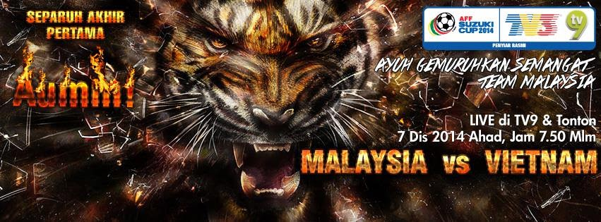 Live Streaming Malaysia Vs Vietnam 7 Disember 2014 Online