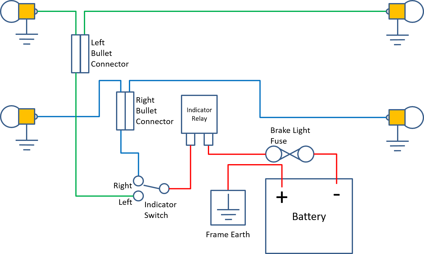 You can use this diagram as a stand-alone circuit or in conjunction with  other systems on the bike.