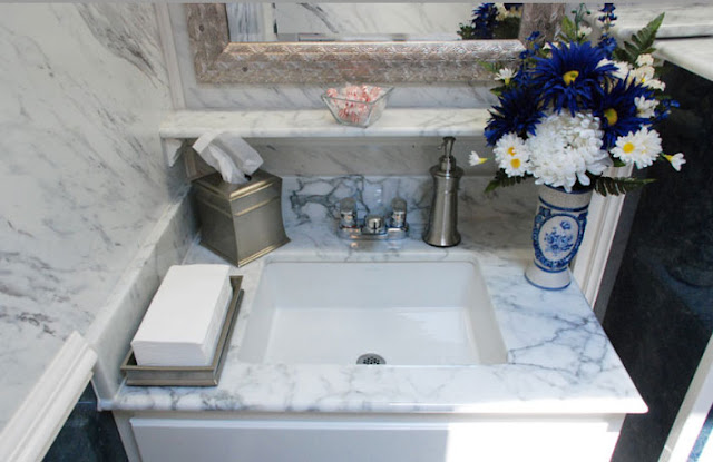 Sink with Floral Arrangement