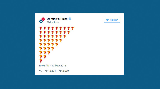 Domino's Pizza tweet emojis