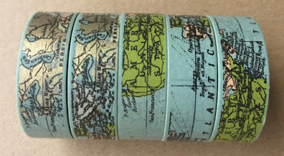 World Map Washi Tape