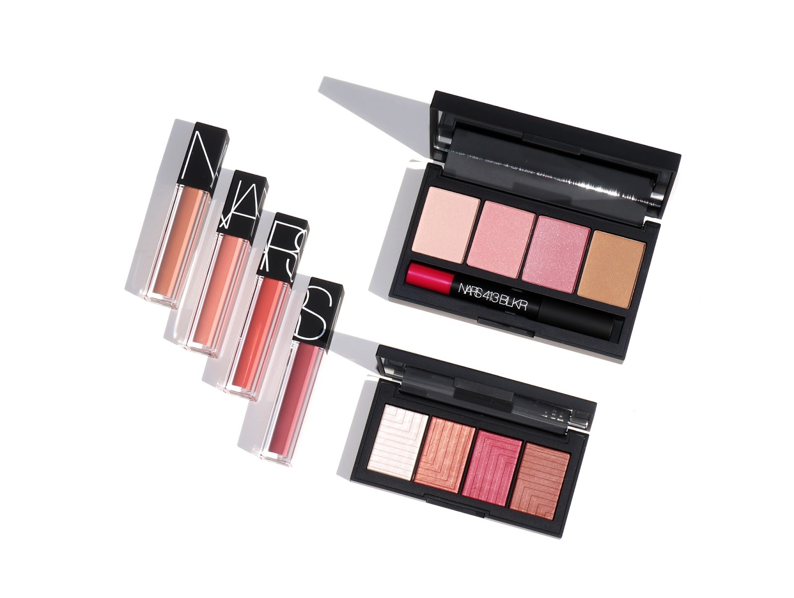 The Beauty Look Book - NARS Velvet Lip Glide, 413 BLKR Cheek and Lip Palette and NARSissist Dual-Intensity Cheek Palette