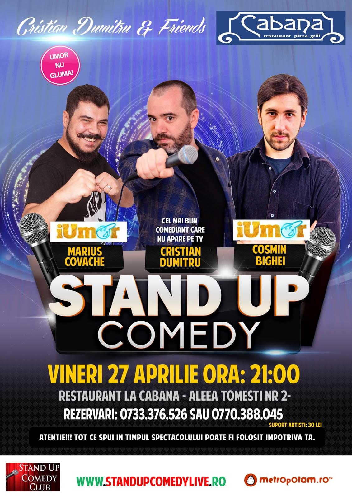 Stand-Up Comedy Bucuresti Vineri 27 Aprilie