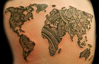 รอยสักแผนที่โลก