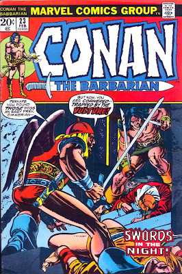 Conan the Barbarian v1 #23 marvel comic book cover art by Barry Windsor Smith