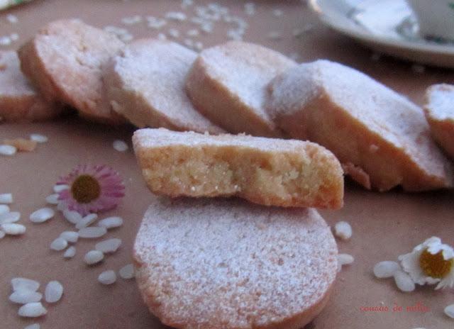 Galletas de harina de arroz, sin gluten y sin lactosa