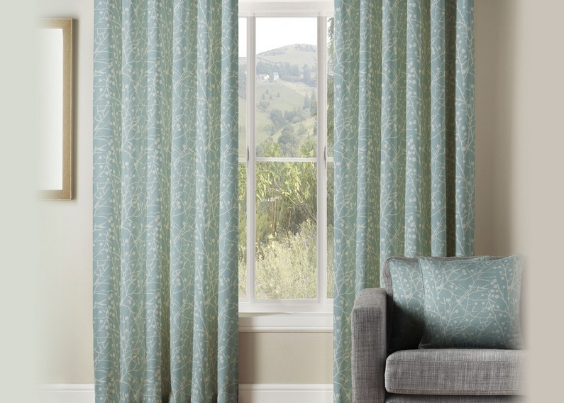 coral and grey curtains grill