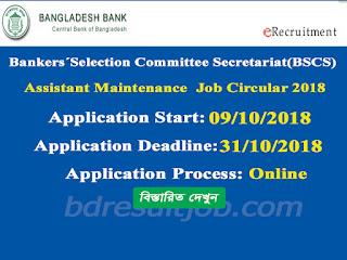 Bankers´Selection Committee Secretariat (BSCS) Senior Officer (General) Job Circular 2018