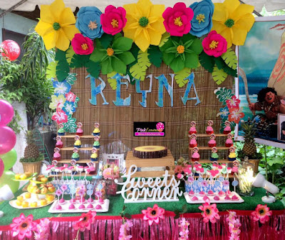 Beautiful Moana Dessert Table