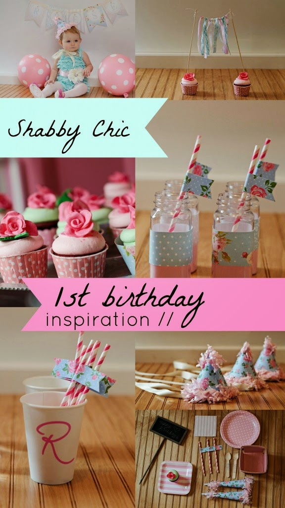 Shabby Chic Birthday party theme for girls