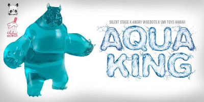 UMI Toys Hawai'i Exclusive Aqua Panda King III Mini Resin Figure by Woes Martin x Silent Stage Gallery