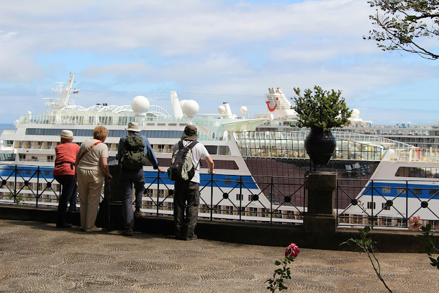 tourists are seeing ships