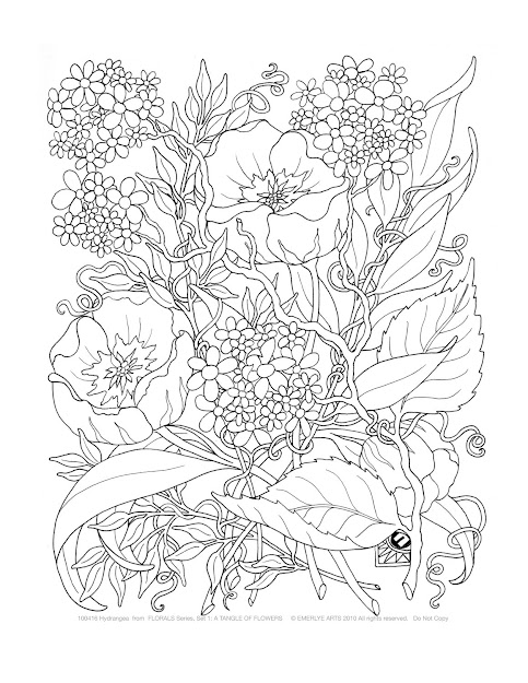 Adult Coloring Pages Tangle Of Flowers