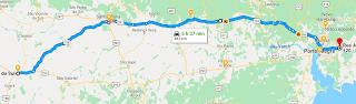 mapa desvio br287 en auto a brasil