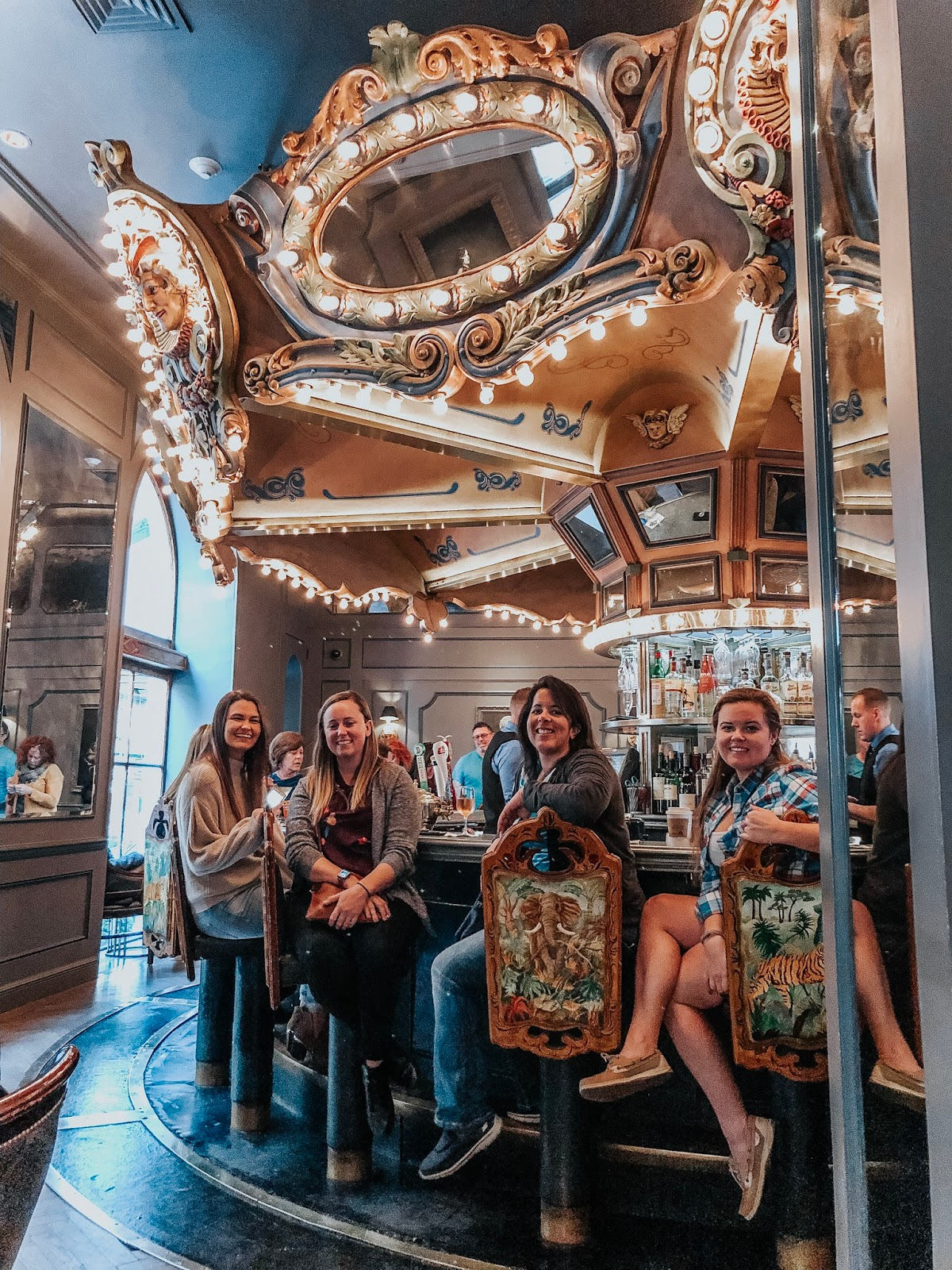 Friends at The Carousel Bar located inside of the Hotel Monteleone in New Orleans