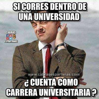 Si corres dentro de una universidad cuenta como carrera universitaria ?