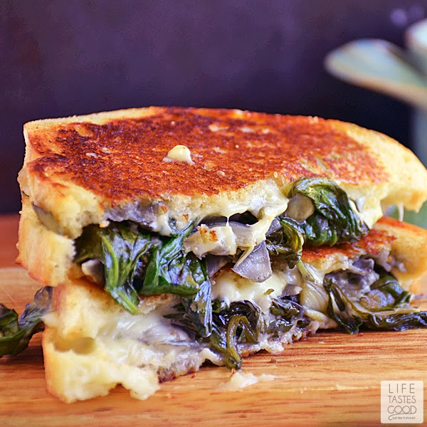 Spinach Artichoke Grilled Cheese #SundaySupper | Life Tastes Good