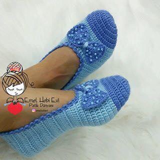 b354d1d0c1 Inspire-se nessas lindas sapatilhas de crochê.