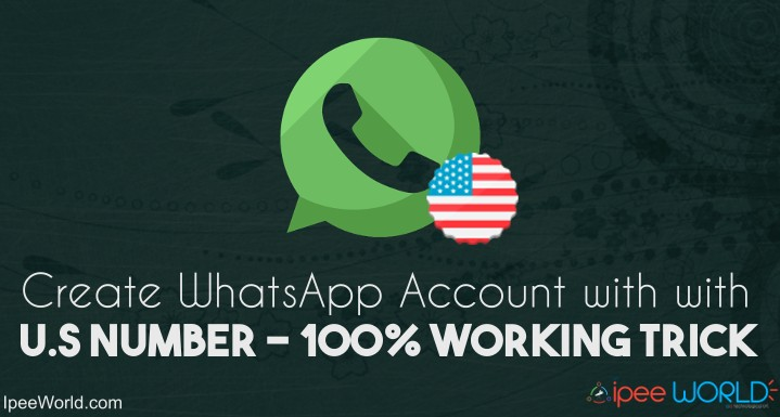 Create WahstApp Account with US Number