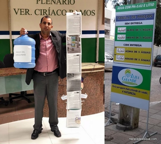 Vereadores denunciam superfaturamento na compra de água mineral pela prefeitura de Santa Cruz que divulga nota sobre o caso