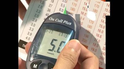 Chỉ số đường huyết lúc này của anh đã ổn định chỉ còn 5.0 mmol l....Ảnh anh Bùi Tuấn Anh