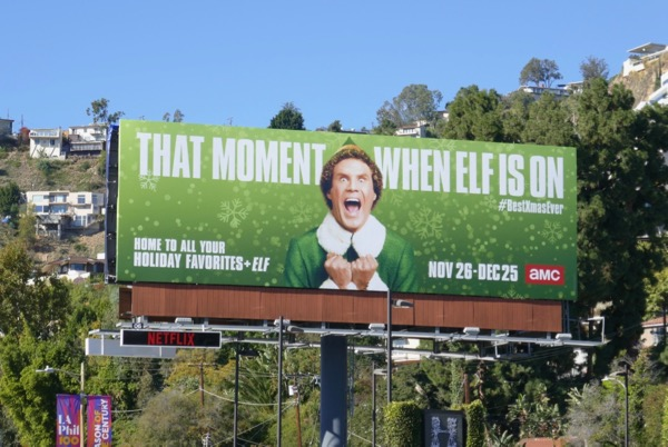 Elf movie billboard