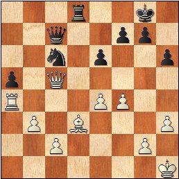 Partida de ajedrez Pepita Ferrer - Júlia Maldonado, 1964, posición después de 30.Dxc5