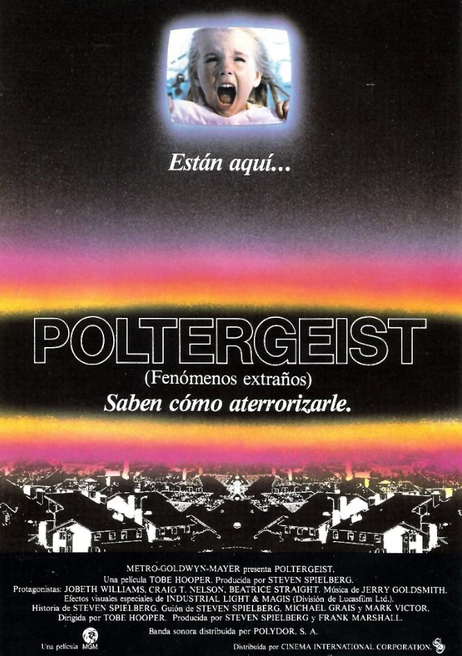 Poltergeist. Fenómenos extraños, Tobe Hooper, Steven Spielberg