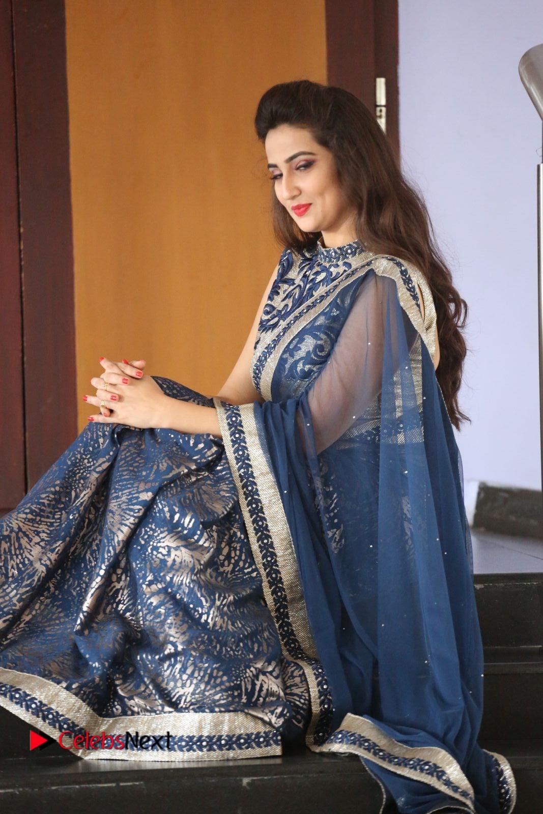 Actress Manjusha Pictures in Saree at Srirastu Subhamastu Song Launch  0179.JPG