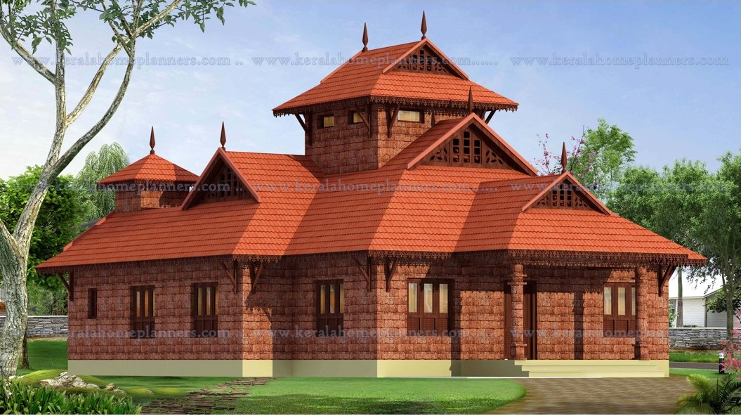 Budget traditional nalukettu style 3 bedroom home with for Classical house plans