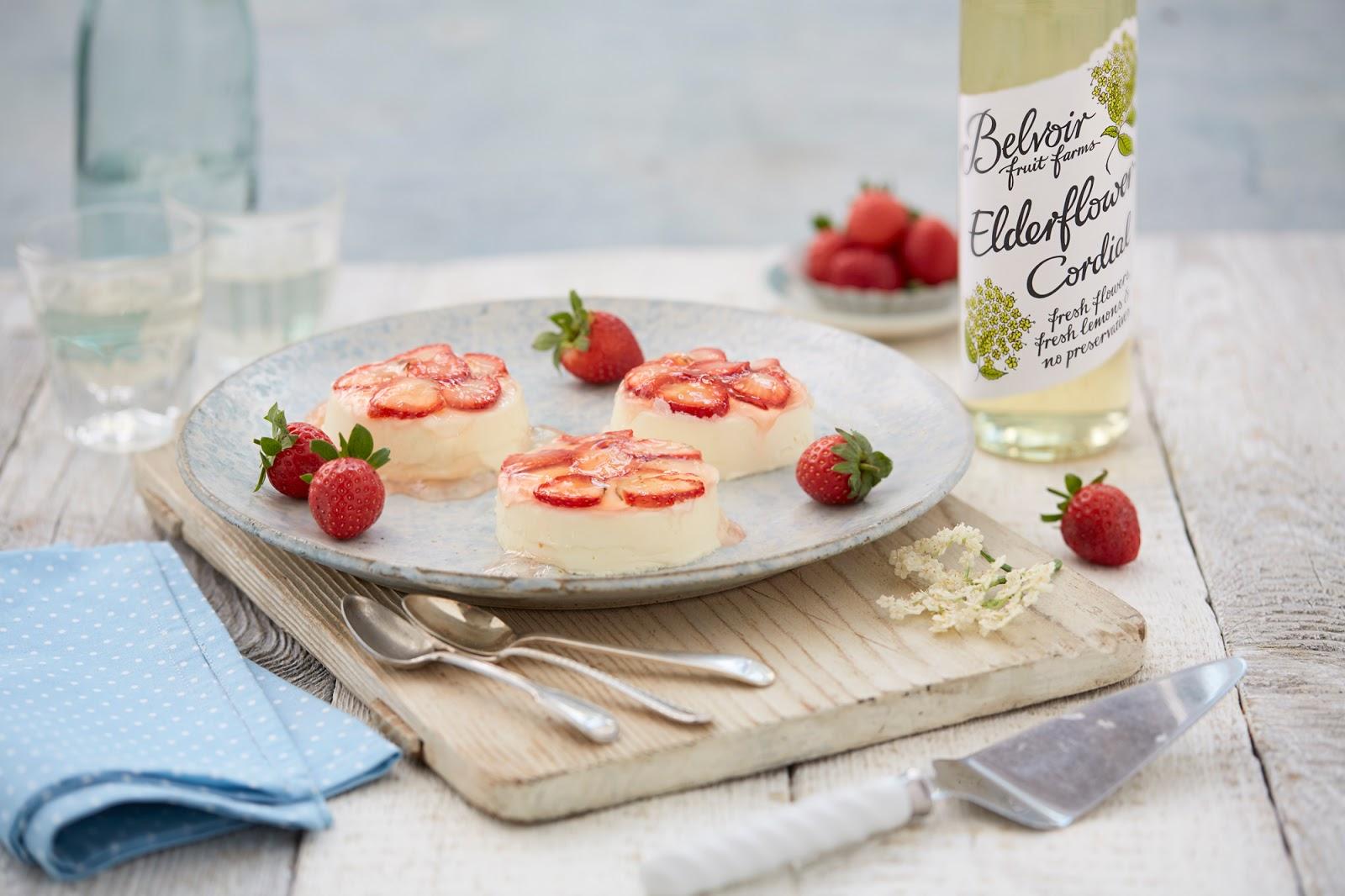 Elderflower And Strawberry Panna Cotta