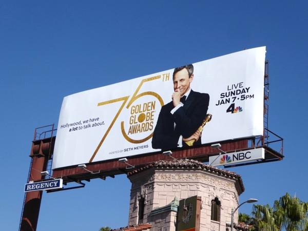 75th Golden Globe Awards NBC billboard
