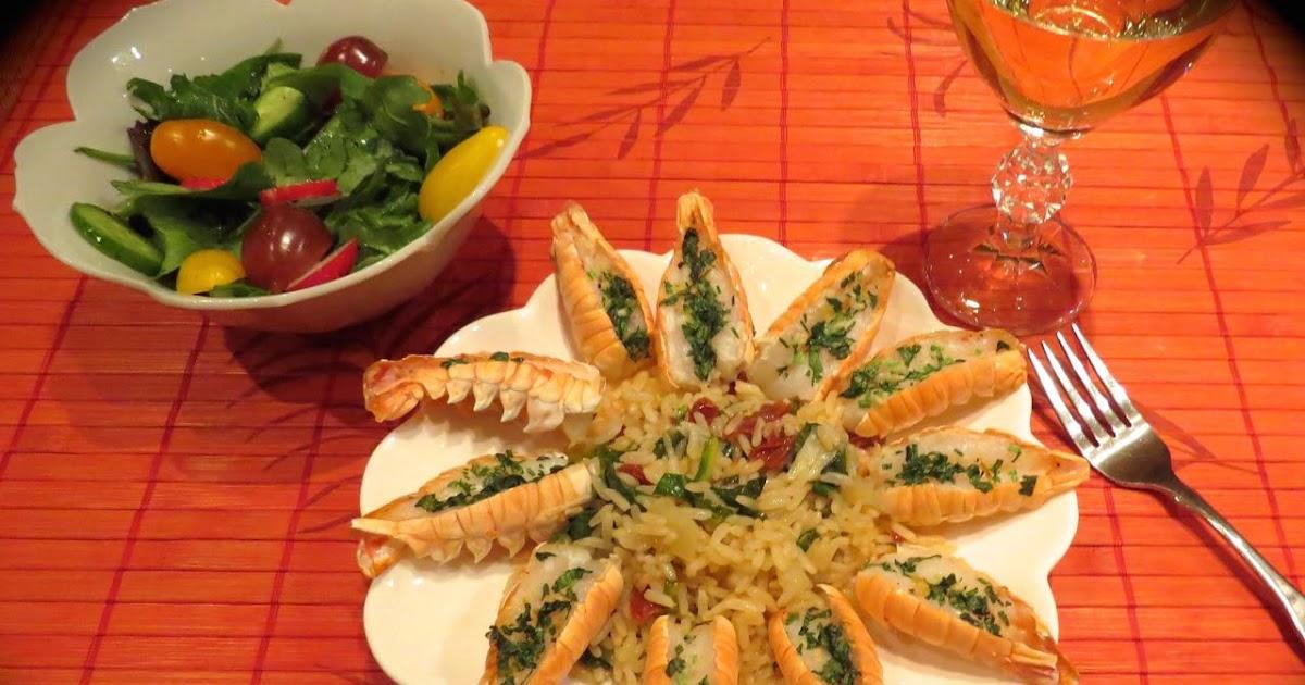La cuisine de messidor langoustines exquises sur riz aux for La fontaine aux cuisines