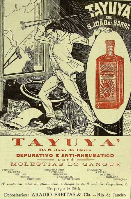 Propaganda de 1923 do depurativo que prometia a cura de diversos males do sangue
