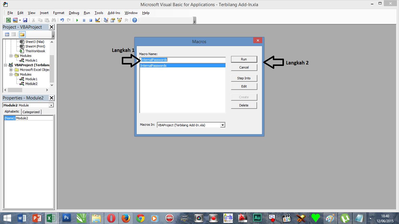 Cara Membuka Password Vba Di Excel