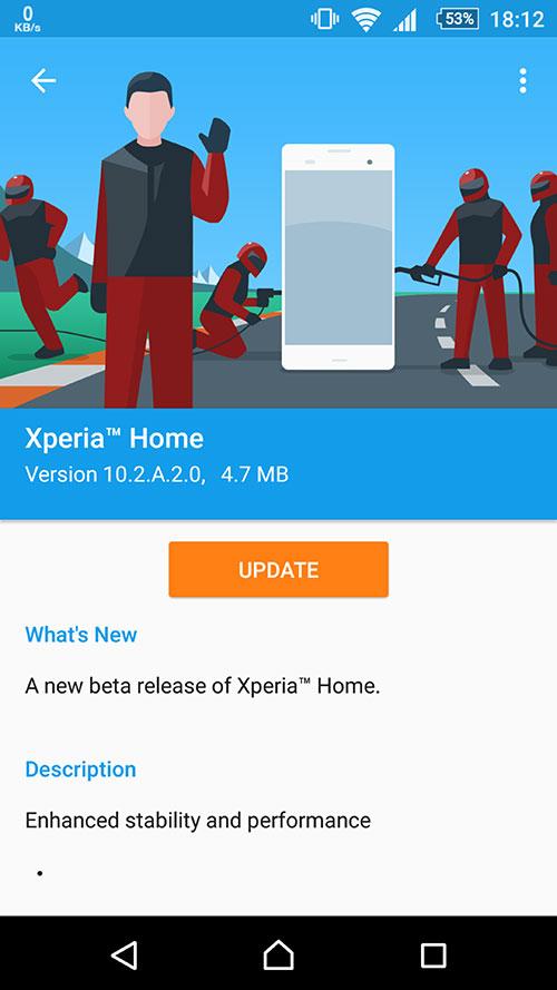 Xperia Home 10.2.A.2.0beta
