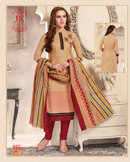 JK Heenaz 11 Cotton Dress Material