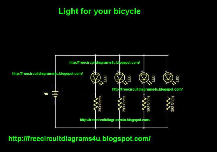 free circuit diagrams 4u: l.e.d light for your bicycle e bike circuit diagram l e d circuit diagram