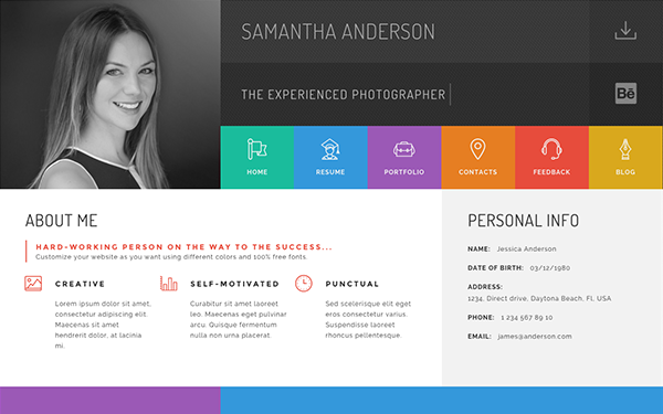 Download Gridus Personal Vcard Html Bootstrap Templates V10