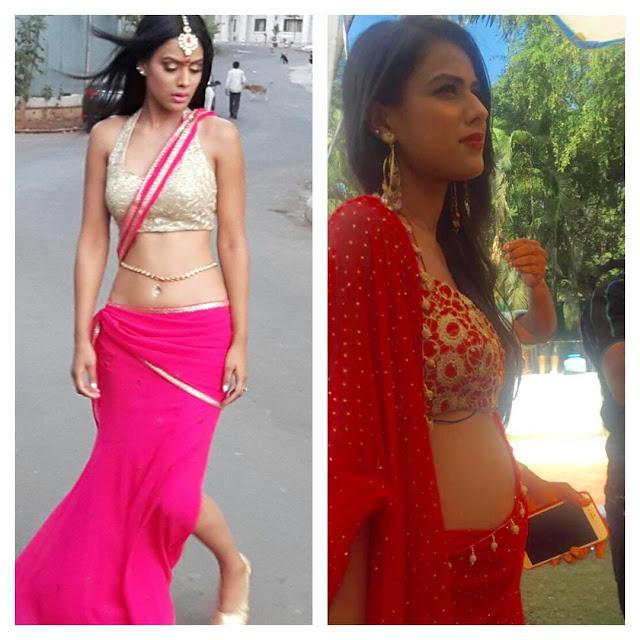 nia-sharma-sexy-sari