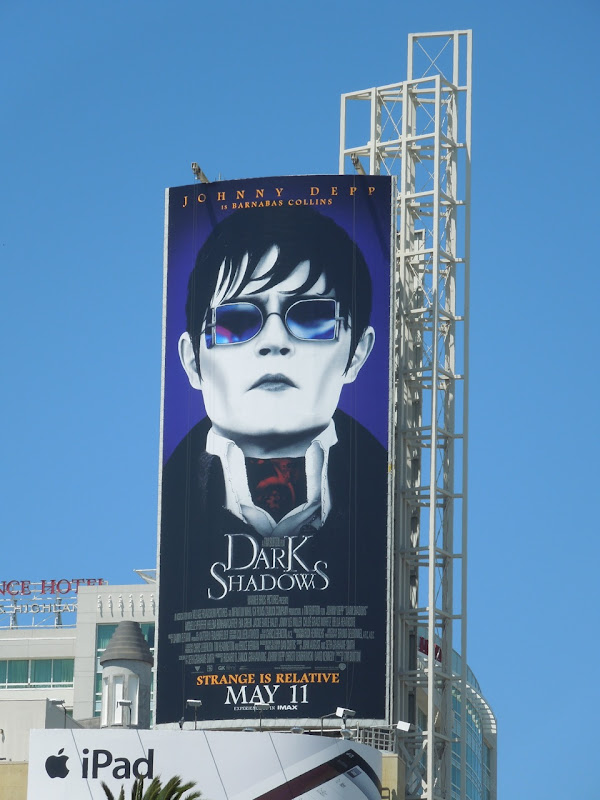 Johnny Depp Dark Shadows billboard