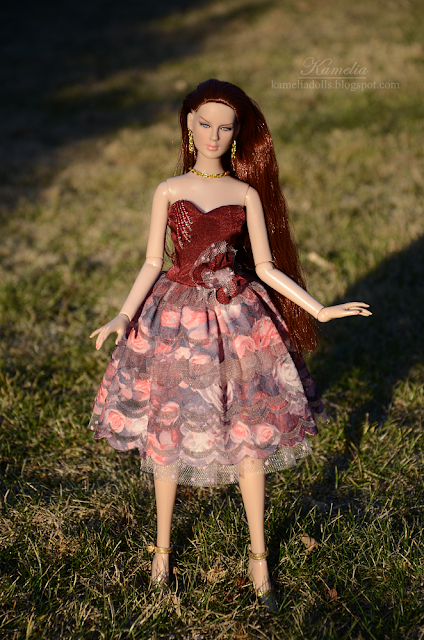 "Handmade dress for 16"" Tonner doll"