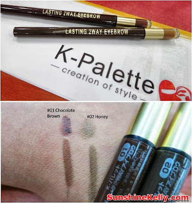 K-Palette 2 Way Lasing Eyebrown Pencil, k-palette, makeup, japan