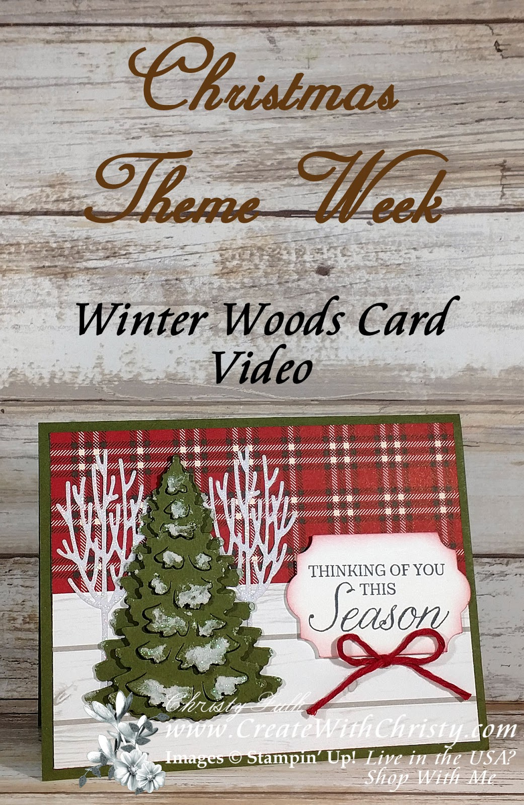 Create With Christy: Christmas Theme Week - Winter Woods Plaid Card ...