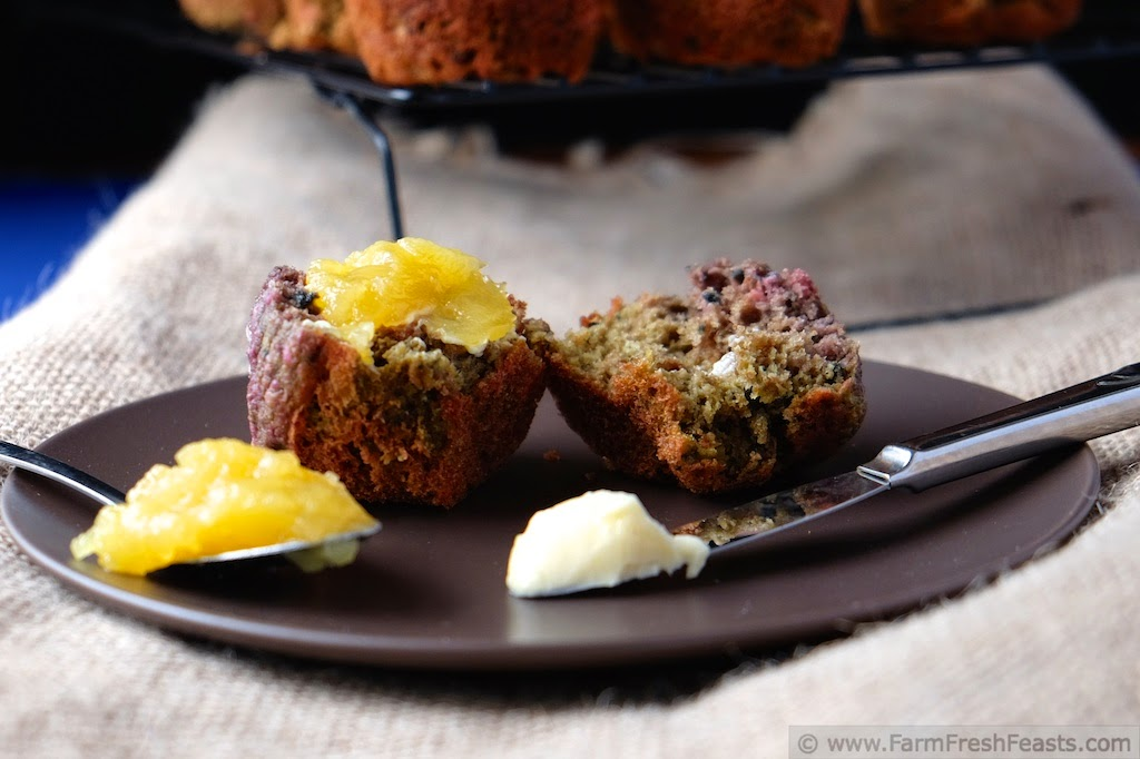 Blueberry Beet Honey Oat Muffins | Farm Fresh Feasts