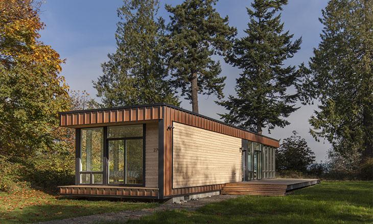 Casas modulares y prefabricadas de diseño: cabaña de madera element 1