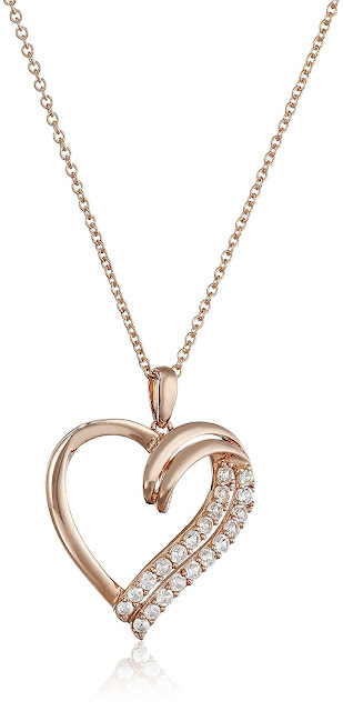 Rose Forgyldte Sterling sølv hjerte vedhæng